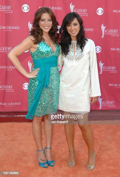 Jessica Harp and Michelle Branch of The Wreckers during 42nd Academy of Country Music Awards - Arrivals at MGM Grand Hotel and Casino Resort in Las...