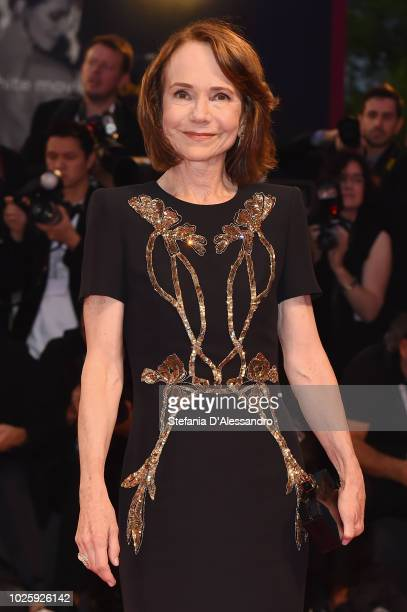 Jessica Harper walks the red carpet ahead of the 'Suspiria' screening during the 75th Venice Film Festival at Sala Grande on September 1 2018 in...