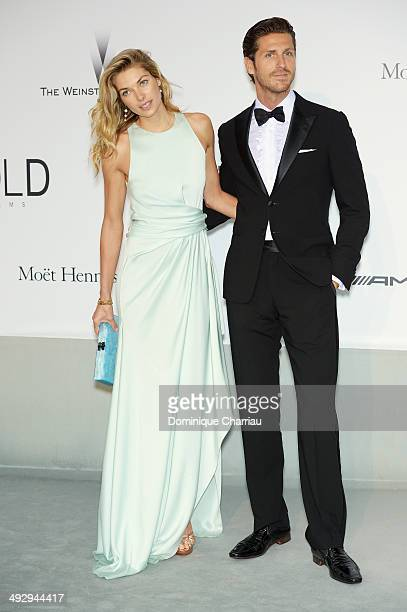 Jessica Hart and Stavros Niarchos attend amfAR's 21st Cinema Against AIDS Gala Presented By WORLDVIEW BOLD FILMS And BVLGARI at Hotel du CapEdenRoc...