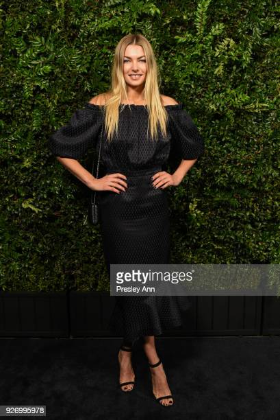 Jessica Hart attends Charles Finch And Chanel Pre-Oscar Awards Dinner At Madeo in Beverly Hills at Madeo Restaurant on March 3, 2018 in Los Angeles,...