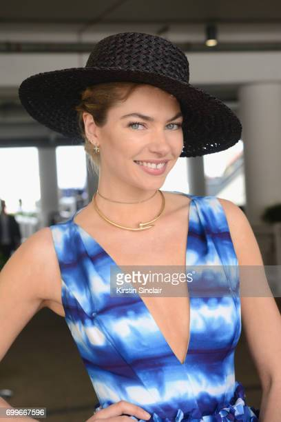 Jessica Hart attends day 3 of Royal Ascot at Ascot Racecourse on June 22 2017 in Ascot England