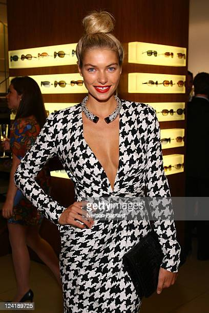 Jessica Hart attends Ferragamo's Black And White Fete to celebrate Fashions Night Out at Salvatore Ferragamo on September 8 2011 in New York City
