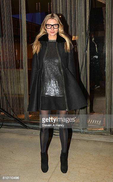 Jessica Hart attends Moncler Gamme Rouge show during Fall 2016 New York Fashion Week on February 13 2016 in New York City