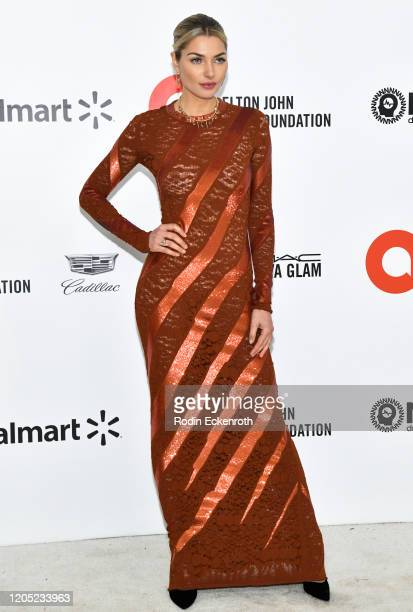 Jessica Hart attends the 28th Annual Elton John AIDS Foundation Academy Awards Viewing Party Sponsored By IMDb And Neuro Drinks on February 09, 2020...