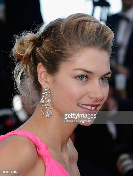 Jessica Hart attends the 'Behind The Candelabra' premiere during The 66th Annual Cannes Film Festival at Theatre Lumiere on May 21 2013 in Cannes...