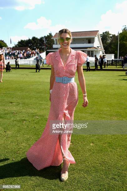 Jessica Hart attends the Cartier Queen's Cup Polo at Guards Polo Club on June 18 2017 in Egham England 2