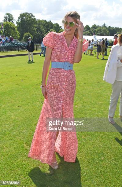 Jessica Hart attends the Cartier Queen's Cup Polo final at Guards Polo Club on June 18 2017 in Egham England