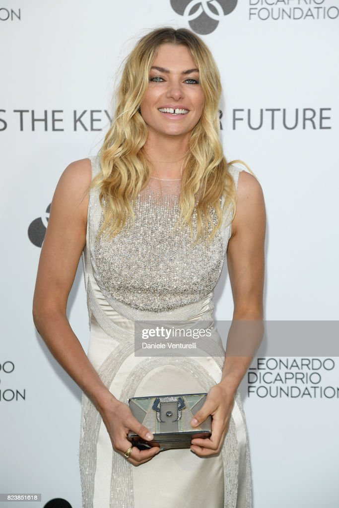 Jessica Hart attends the Leonardo DiCaprio Foundation 4th Annual Saint-Tropez Gala at Domaine Bertaud Belieu on July 27, 2017 in Saint-Tropez, France.