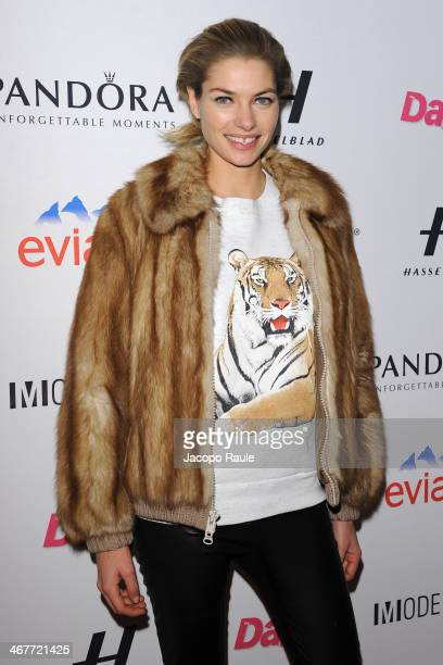 Jessica Hart attends the Models Issue Party presented by The Daily Front Row and Modelinia at Harlow on February 7 2014 in New York City