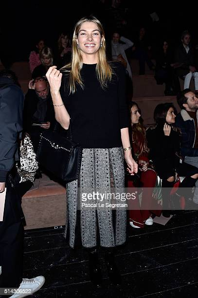 Jessica Hart attends the Valentino show as part of the Paris Fashion Week Womenswear Fall/Winter 2016/2017 on March 8 2016 in Paris France