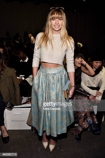 Jessica Hart attends the Zimmermann fashion show during MercedesBenz Fashion Week Fall 2015 at ArtBeam on February 13 2015 in New York City