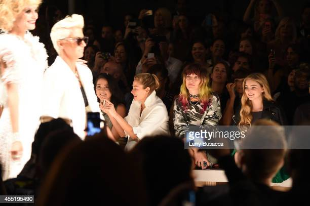 Jessica Hart Chloe Norgaard and Willow Shields attend the Betsey Johnson fashion show during MercedesBenz Fashion Week Spring 2015 at The Salon at...