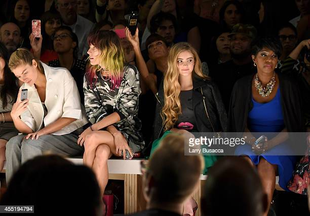 Jessica Hart Chloe Norgaard Willow Shields and Cheryl Wills attend the Betsey Johnson fashion show during MercedesBenz Fashion Week Spring 2015 at...