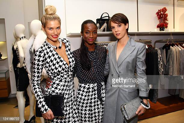 Jessica Hart Genevieve Jones and Lady Alice St Clair Erskine attend Ferragamo's Black And White Fete to celebrate Fashions Night Out at Salvatore...