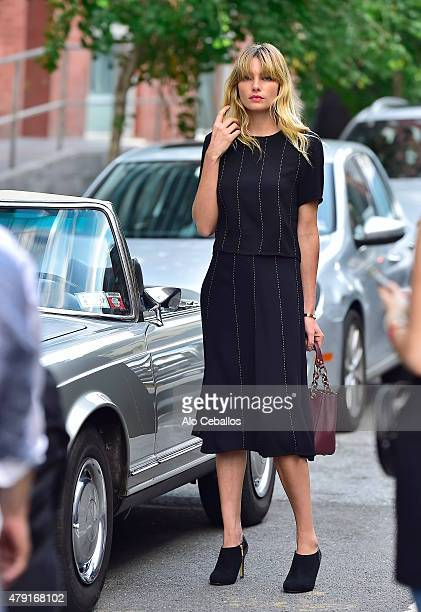 Jessica Hart is seen during a photo shoot in Tribeca on July 1 2015 in New York City