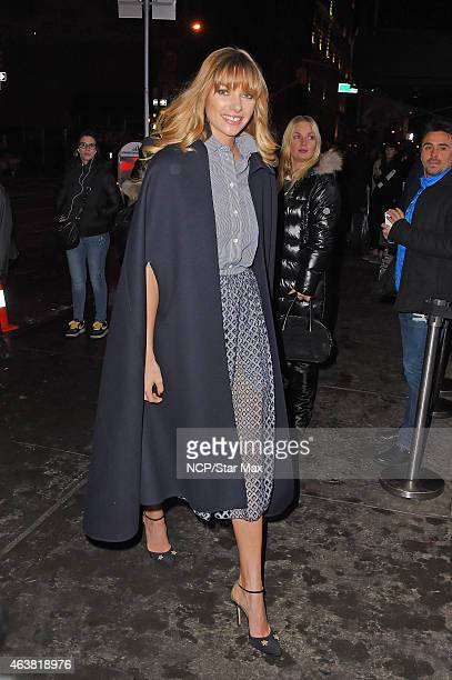 Jessica Hart is seen on February 18 2015 in New York City