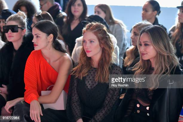 Jessica Hart Sofia Resing Brittnay Snow and Jamie Chung attend the alice McCALL fashion show during New York Fashion Week The Shows at Industria...