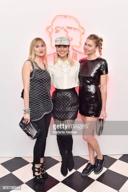 Jessica Hart wearing Chanel Ashley Hart and Alessandra Brawn attend a Chanel Party to Celebrate the Chanel Beauty House and @WELOVECOCO at Chanel...