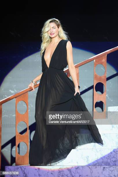 Jessica Hart wearing Givenchy walks the runway at the amfAR Gala Cannes 2017 at Hotel du CapEdenRoc on May 25 2017 in Cap d'Antibes France