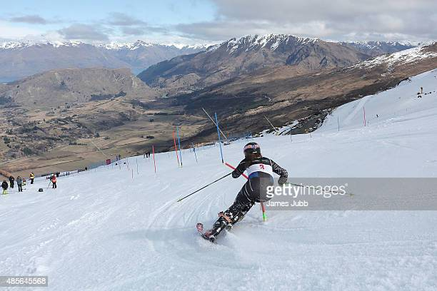 Jessica Haslau of Australia competes in the Alpine Slalom FIS Australia New Zealand Cup during the Winter Games NZ at Coronet Peak on August 29 2015...