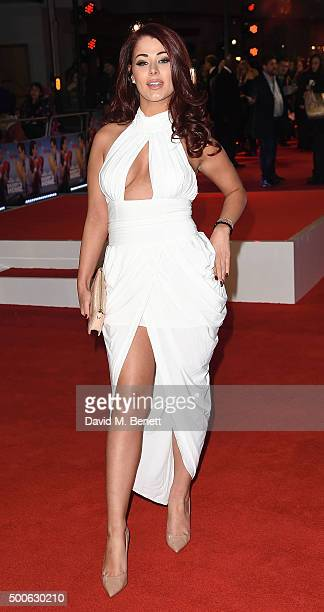 Jessica Hayes attends the UK Premiere of 'Daddy's Home' at Vue West End on December 9 2015 in London England