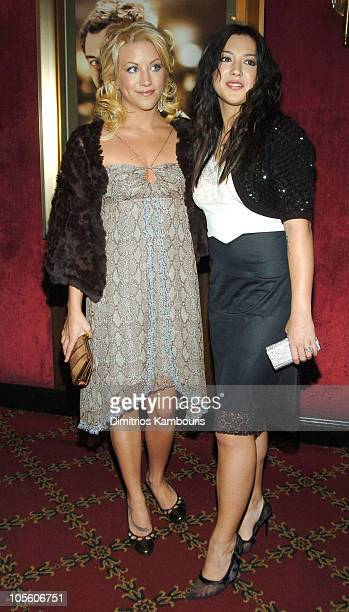 Jessica Heart and Michelle Branch during Alfie New York City Premiere Inside Arrivals at Ziegfield Theater in New York City New York United States
