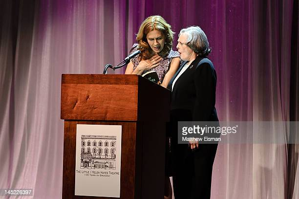 Jessica Hecht and Dana Ivey attend The Little / Helen Hayes Theatre 100 Years On Broadway celebration at the Helen Hayes Theatre on May 24 2012 in...