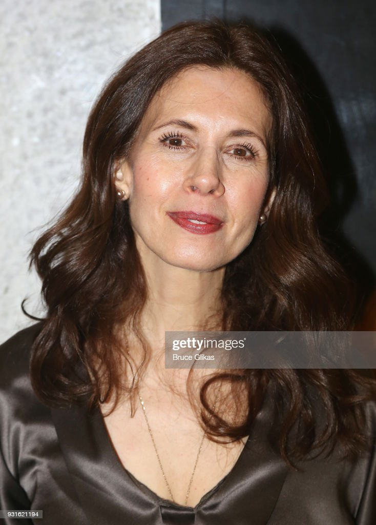 Jessica Hecht poses at The Opening Night of 'Admissions' at The Mitzi E. Newhouse Theater Lobby on March 12, 2018 in New York City.