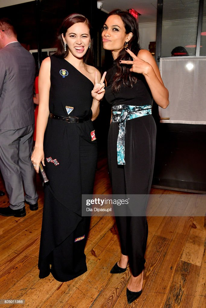 Jessica Henwick, and Rosario Dawson attend the 'Marvel's The Defenders' New York Premiere - After Party at The Standard Biergarten on July 31, 2017 in New York City.