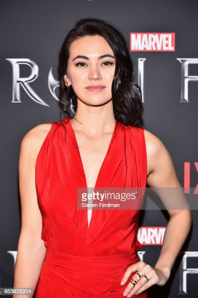 Jessica Henwick arrives at the New York screening of Marvel's 'Iron Fist' at AMC Empire 25 on March 15 2017 in New York City