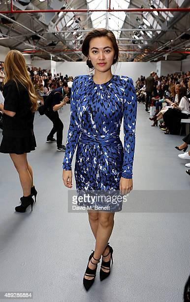 Jessica Henwick attends the Issa Spring/ Summer 2016 London Fashion Week Show at BFC Show Space on September 20 2015 in London England