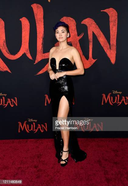 """Jessica Henwick attends the premiere of Disney's """"Mulan"""" at Dolby Theatre on March 09, 2020 in Hollywood, California."""