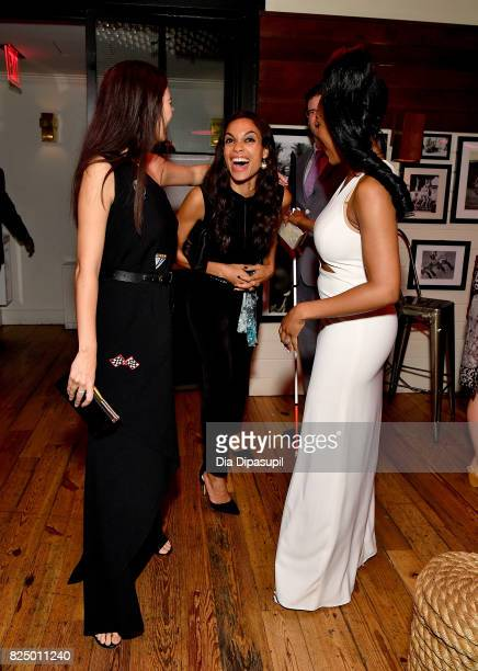 Jessica Henwick Rosario Dawson and Simone Missick attend the Marvel's The Defenders New York Premiere After Party at The Standard Biergarten on July...