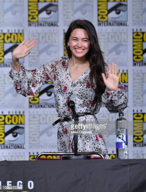 Jessica Henwick walks onstage at Netflix Marvel's Iron Fist during ComicCon International 2018 at San Diego Convention Center on July 19 2018 in San...