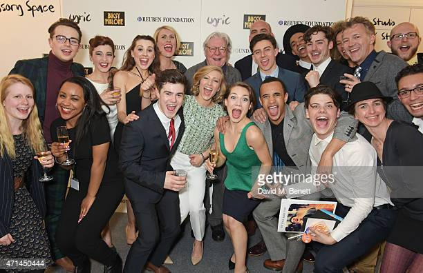 Jessica Hepburn Executive Director of the Lyric Hammersmith Sir Alan Parker and Sean Holmes Artistic Director of the Lyric Hammersmith pose with cast...