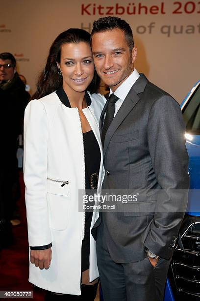Jessica Hinterseer and Timo Scheider attend the Audi Night 2015 on January 23 2015 in Kitzbuehel Austria