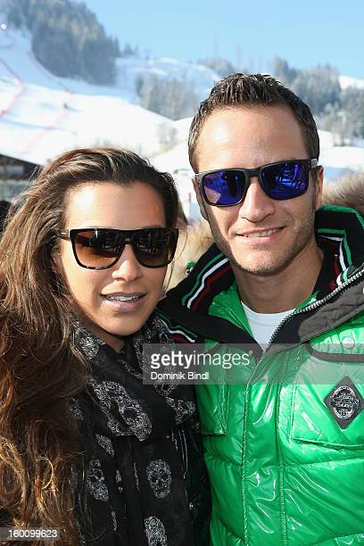 Jessica Hinterseer and Timo Scheider attend the Hahnenkamm Race on January 26 2013 in Kitzbuehel Austria