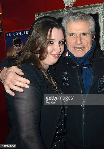 Jessica Holgado and Claude Lelouch attend the Tribute To Actor Ticky Holgado At The O Mantra Club on January 29, 2014 in Paris, France.