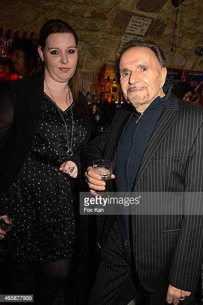 Jessica Holgado and Jean Pierre Kalfon attend the Tribute To Actor Ticky Holgado At The O Mantra Club on January 29, 2014 in Paris, France.