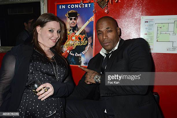 Jessica Holgado and Lord Kossity attend the Tribute To Actor Ticky Holgado At The O Mantra Club on January 29, 2014 in Paris, France.