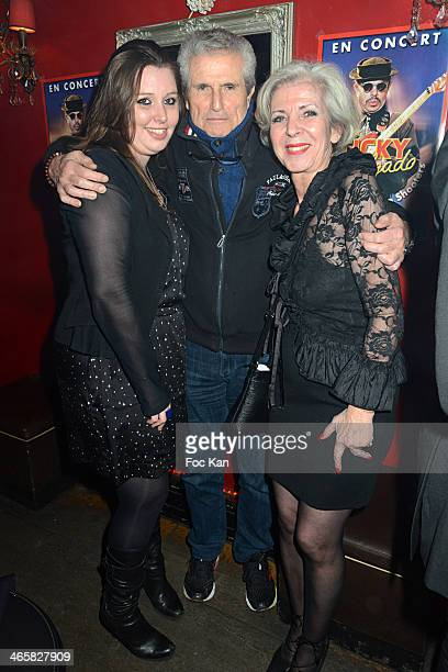 Jessica Holgado, Claude Lelouch and Ticky Holgado's agent Djouhra attend the Tribute To Actor Ticky Holgado At The O Mantra Club on January 29, 2014...