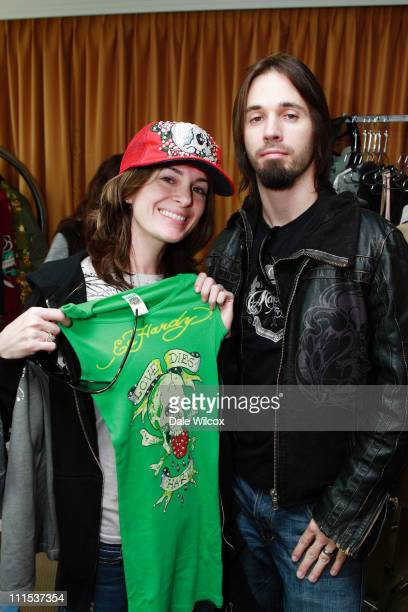 Jessica Horton and Jerry Horton of Pappa Roach during KROQ Acoustic Christmas Gift Lounge Day 1 at Gibson Amphitheater in Universal City California...