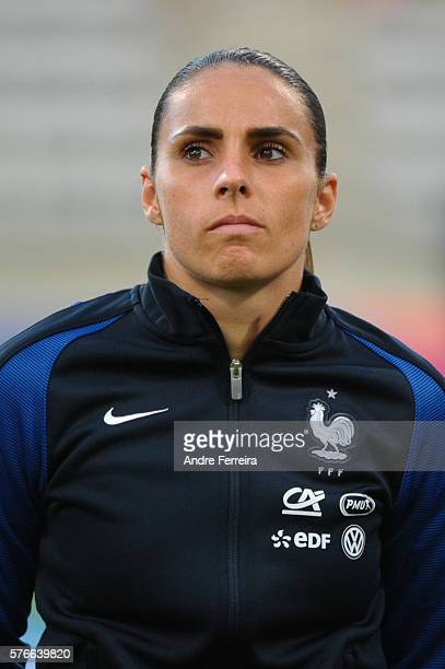 Jessica Houara DÕHommeaux of France during Female International friendly match between France and China at Stade Charlety on July 16 in Paris France