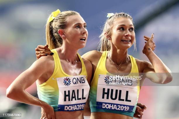 Jessica Hull and Linden Hall of Australia compete in the Women's 1500m semi final race during the 17th IAAF World Athletics Championships Doha 2019...