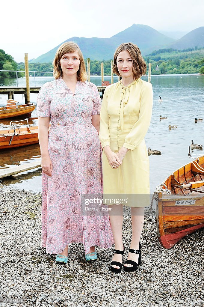 Jessica Hynes (L) and Kelly Macdonald arrive for the World Premiere of 'Swallows and Amazons' at Theatre by the Lake on July 24, 2016 in Keswick, England.