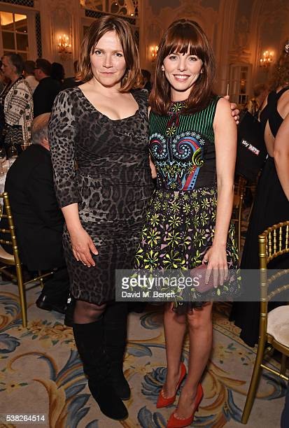 Jessica Hynes and Opehlia Lovibond attend the South Bank Sky Arts Awards airing on Wednesday 8th June on Sky Arts at The Savoy Hotel on June 5 2016...