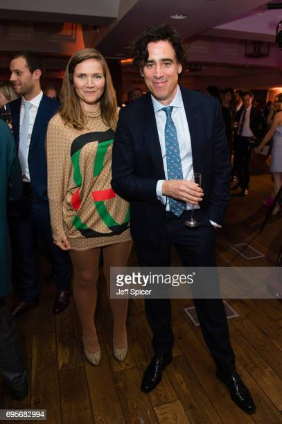 Jessica Hynes and Stephen Mangan attend The Old Vic Summer Party at The Brewery on June 13 2017 in London United Kingdom