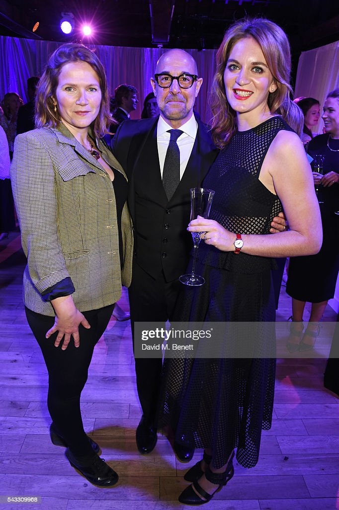 Jessica Hynes, Stanley Tucci and Felicity Blunt attend the Summer Gala for The Old Vic at The Brewery on June 27, 2016 in London, England.