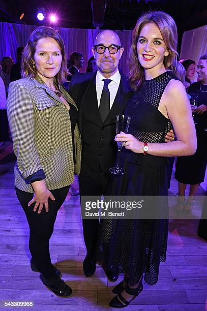 Jessica Hynes Stanley Tucci and Felicity Blunt attend the Summer Gala for The Old Vic at The Brewery on June 27 2016 in London England