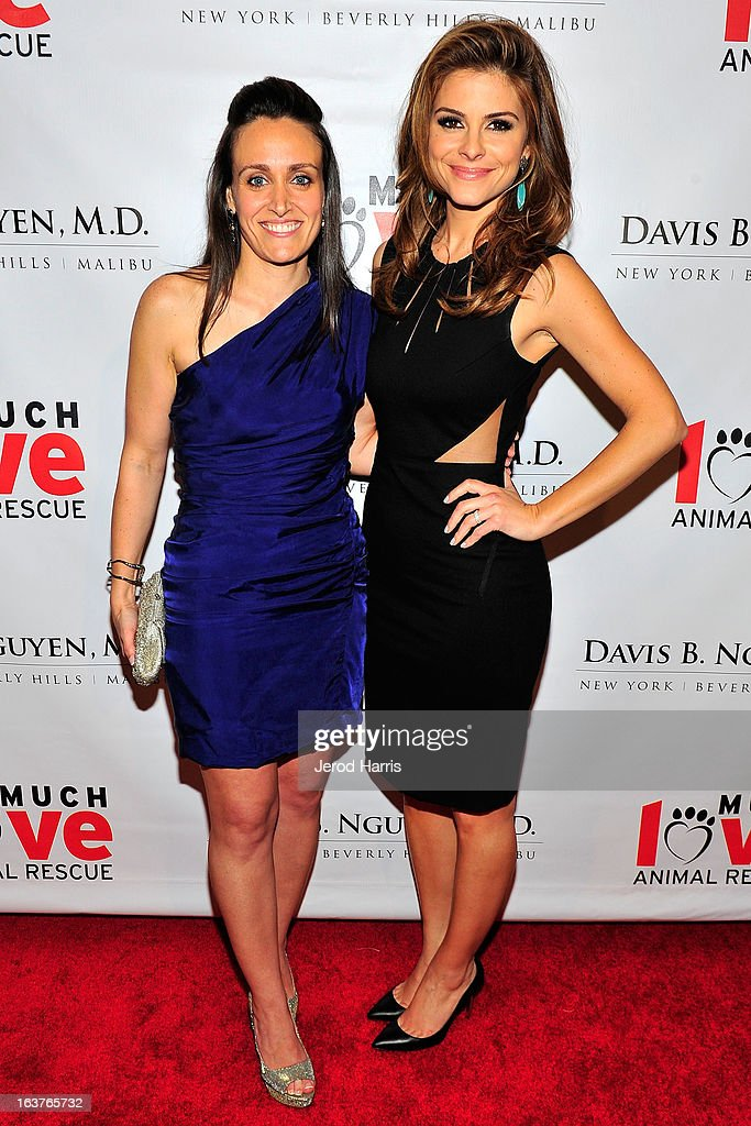 Jessica Inserra and Maria Menounos arrive at Makeovers For Mutts at Peninsula Hotel on March 14, 2013 in Beverly Hills, California.